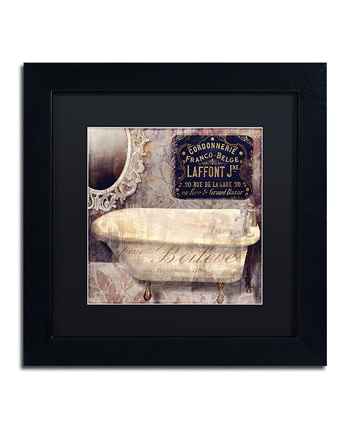 "Trademark Global Color Bakery 'Le Bain Paris I' Matted Framed Art, 11"" x 11"""