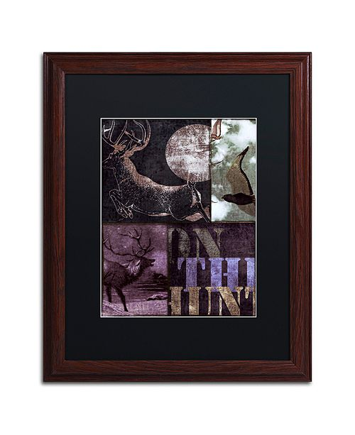 "Trademark Global Color Bakery 'On The Hunt Ii' Matted Framed Art, 16"" x 20"""
