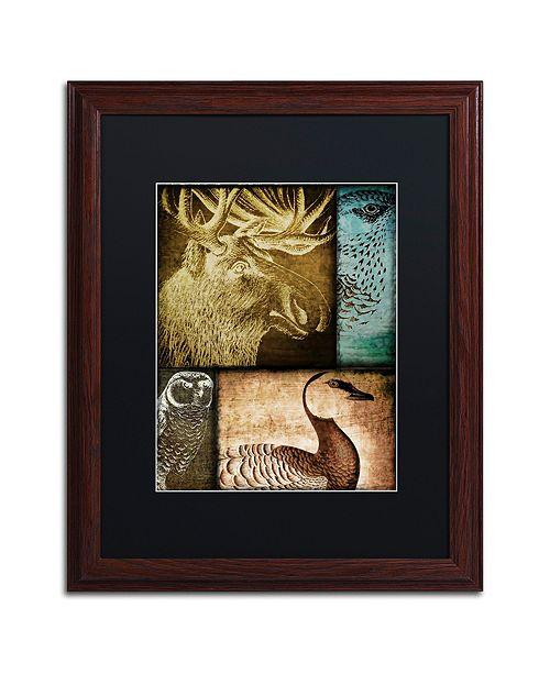 "Trademark Global Color Bakery 'Hunting Season Iii' Matted Framed Art, 16"" x 20"""