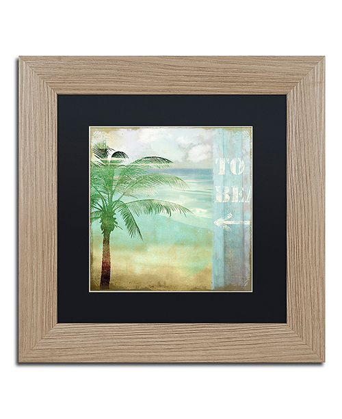 """Trademark Global Color Bakery 'By The Sea Iii' Matted Framed Art, 11"""" x 11"""""""