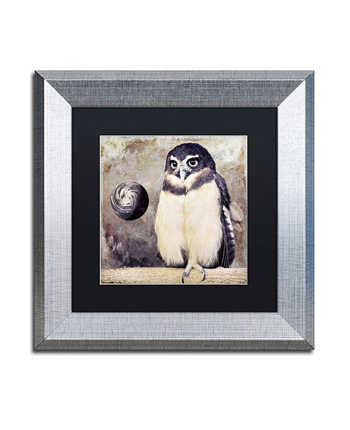 "Trademark Global Color Bakery 'Moon Owl' Matted Framed Art, 11"" x 11"""