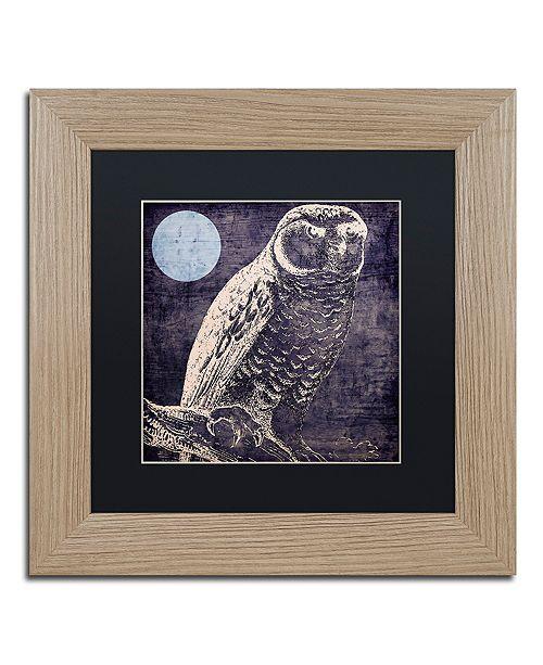 "Trademark Global Color Bakery 'Owl 1' Matted Framed Art, 11"" x 11"""