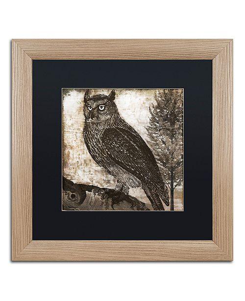 "Trademark Global Color Bakery 'Owl 2' Matted Framed Art, 16"" x 16"""