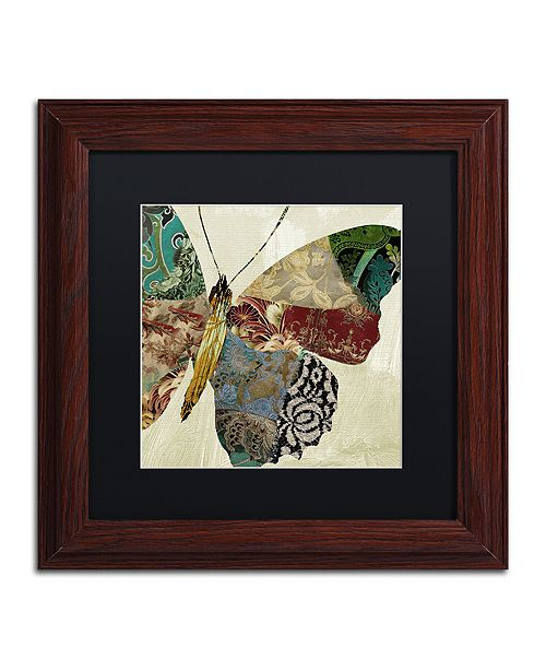 "Trademark Global Color Bakery 'Butterfly Brocade Ii' Matted Framed Art, 11"" x 11"""