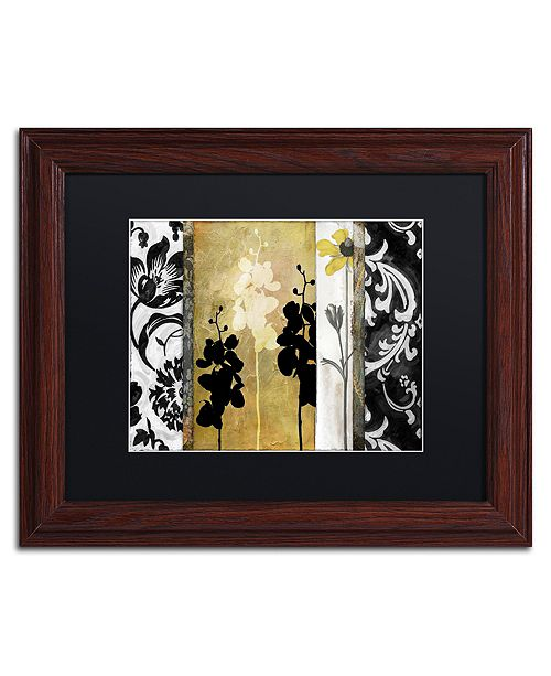 "Trademark Global Color Bakery 'Gardenscape Ii' Matted Framed Art, 11"" x 14"""
