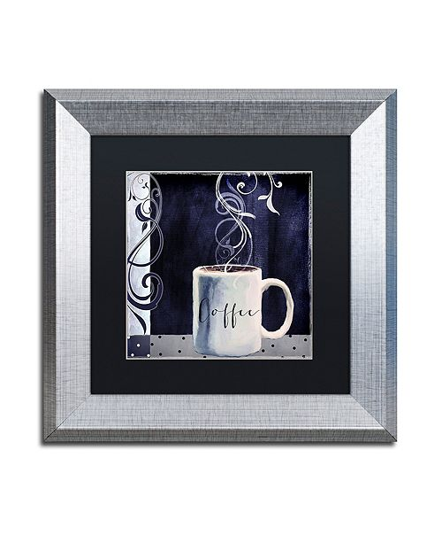 "Trademark Global Color Bakery 'Cafe Blue I' Matted Framed Art, 11"" x 11"""