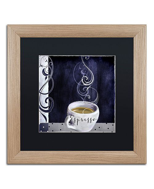 "Trademark Global Color Bakery 'Cafe Blue Iv' Matted Framed Art, 16"" x 16"""