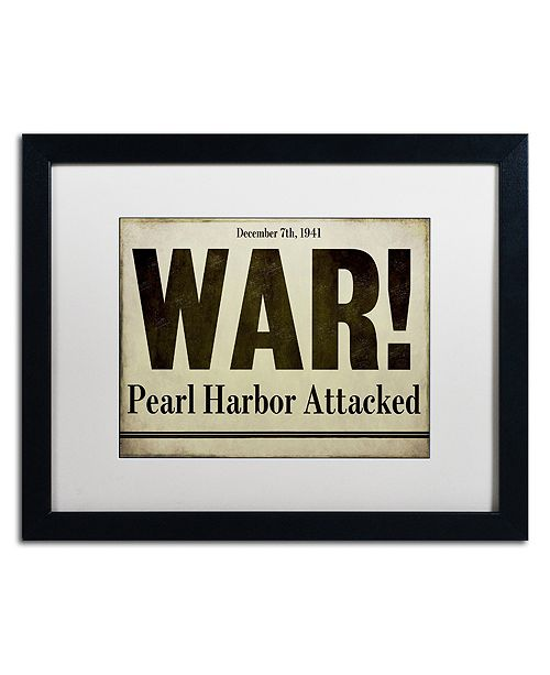 "Trademark Global Color Bakery 'Pearl Harbor' Matted Framed Art, 16"" x 20"""
