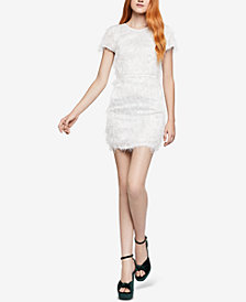 BCBGeneration Fringe-Trim Mini Sheath Dress
