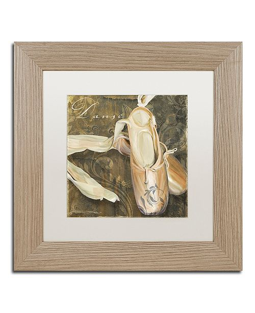 "Trademark Global Color Bakery 'Danse Ii' Matted Framed Art, 11"" x 11"""