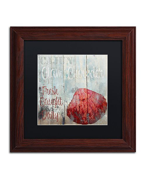 """Trademark Global Color Bakery 'New Orleans Seafood Iv' Matted Framed Art, 11"""" x 11"""""""