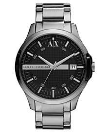 Watch, Men's Stainless Steel Bracelet 46mm AX2103