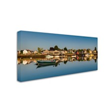 "Michael Blanchette Photography 'Portsmouth Reflection' Canvas Art, 10"" x 19"""