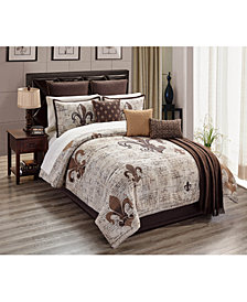 Baskin 14-Pc. Queen Comforter Set, Created for Macy's