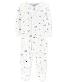 Carter's Little Planet Organics Baby Boys Elephant-Print Footed Cotton Coverall