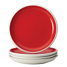 Rachael Ray Dinnerware Rise 4-Piece Red Stoneware Salad Plate Set