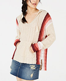 American Rag Juniors' Striped Baja Hoodie, Created for Macy's