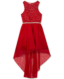 Rare Editions Big Girls Embroidered Mesh Dress