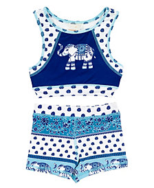 Masala Baby Girl's Racerback Two Piece Set Passage to India Navy