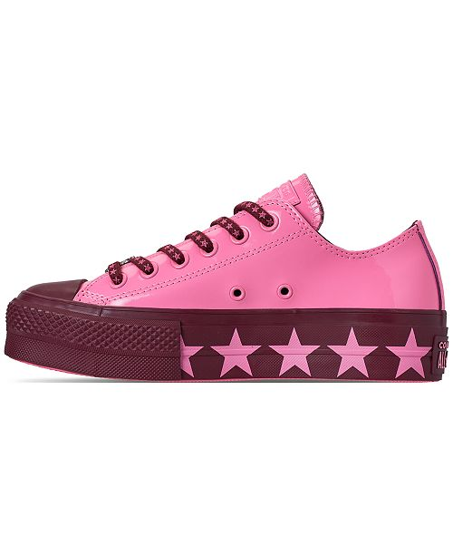 50c92f22847 ... Converse Women s Chuck Taylor All Star x Miley Cyrus Ox Lift Casual  Sneakers from Finish ...