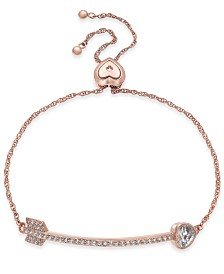 kate spade new york Crystal Heart Arrow Slider Bracelet