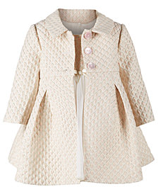 Bonnie Baby Baby Girls Brocade Metallic Jacket & Ballerina Dress Set