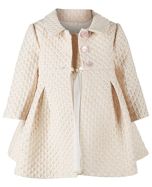 a60704da2 ... Set; Bonnie Baby Baby Girls Brocade Metallic Jacket & Ballerina Dress  ...