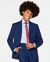ef15ae4d16c78 Tommy Hilfiger Big Boys Stretch Plaid Suit Jacket