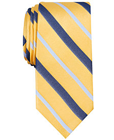 Nautica Men's Connors Stripe Slim Silk Tie