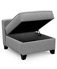 "Clarke II 27"" Fabric Storage Armless Chair, Created for Macy's"