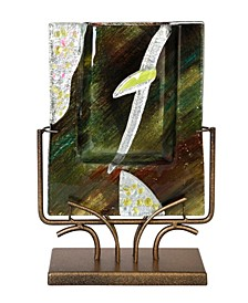 """9"""" x 13"""" Rectangle Vase Gold Kissed Stand"""