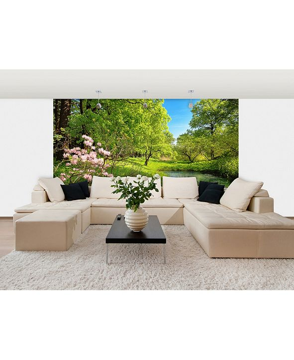 Brewster Home Fashions Park In The Spring Wall Mural