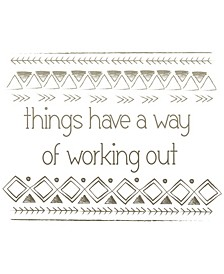 Things Work Out Wall Quote