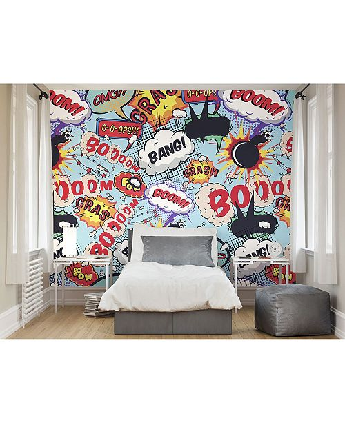 Brewster Home Fashions Comic Pop Wall Mural