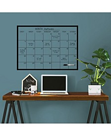 Black On Clear Monthly Calendar