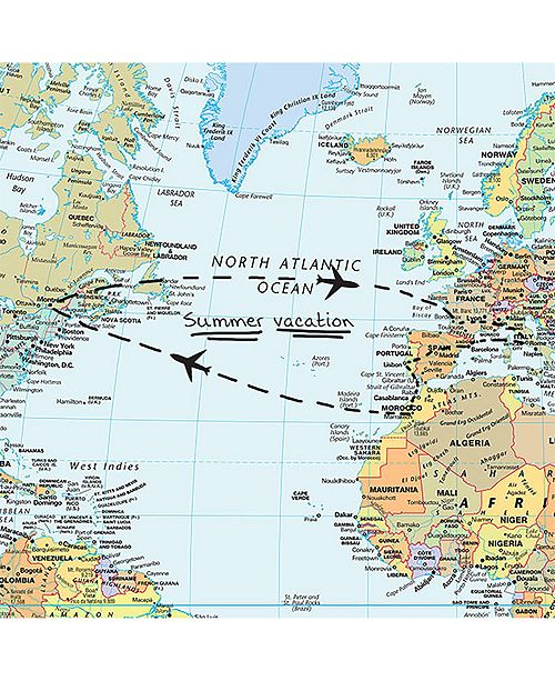 World Dry Erase Map on