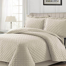 Cotton Flannel Solid Oversized Quilt Sets