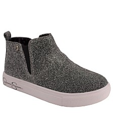 Jessica Simpson Youth Big Kids Pewter Sparkle Sneaker Bootie