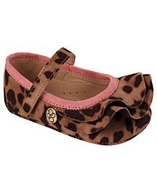 Jessica Simpson Youth Kids Tan Leopard Microsuede Flat