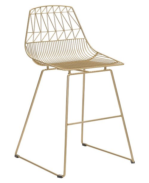 Zuo Brody Bar Chair Gold (Set of 2)