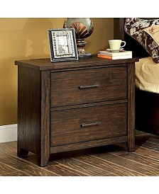 Traditional Style Night Stand End Table, Dark Walnut Finish