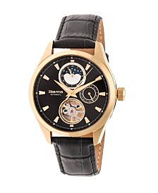 Heritor Automatic Sebastian Gold & Black Leather Watches 40mm