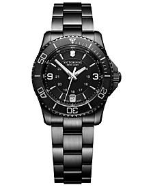 Women's Swiss Maverick Small Black Edition Black Stainless Steel Bracelet Watch 34mm