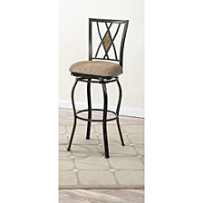 Swivel Barstool, Black (Set Of 2)