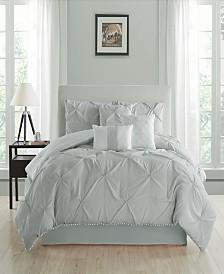 Pom Pom Seven Piece Queen Size Comforter Set