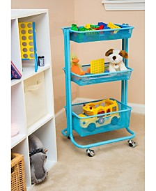 Offex Multipurpose Home Storage Kitchen Utility Rolling Cart