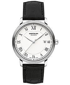Men's Swiss Automatic Tradition Date Automatic Black Alligator Leather Strap Watch 40mm