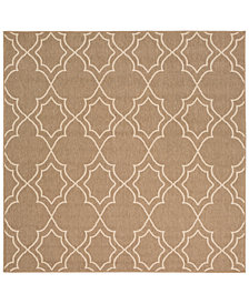 "Surya Alfresco ALF-9587 Camel 8'9"" Square Area Rug"