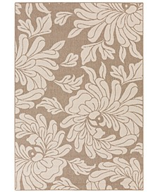 "Alfresco ALF-9623 Camel 8'9"" x 12'9"" Area Rug, Indoor/Outdoor"
