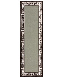 "Surya Alfresco ALF-9625 Sage 2'3"" x 7'9"" Runner Area Rug, Indoor/Outdoor"